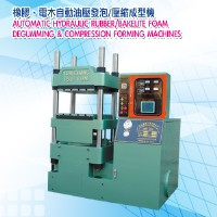 Automatic hydraulic rubber/ bakelite foam degumming & compression forming machines
