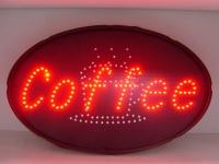 """LED 电子显示板, 显示字幕: """"Coffee"""" (椭圆形)"""