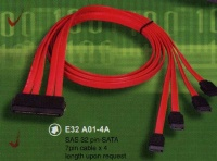 SAS 32 pin-SATA 7pin cable x 4 length upon request