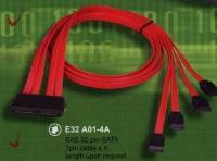 SAS 32 pin-SATA 7pin cable x 4 length upon request