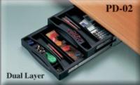 Under-Desk   Dual-Layer Pencil Drawer