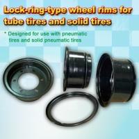 Cens.com Lock-ring-type wheel rims for tube tires and solid tires 鉦泰工業有限公司