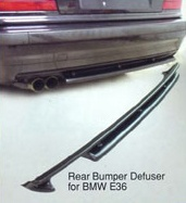 Rear Bumper Defuser for BMW E36