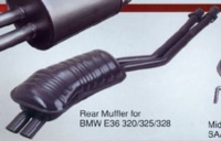 Rear Muffler for BMW E36 320/325/328