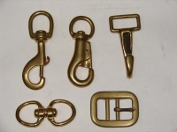 SOLID BRASS HOOK AND BUCKLE